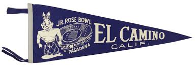 el camino college lot detail 1950s 90s college football full size pennant