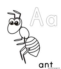 a for ant alphabet s printable17f25 coloring pages printable