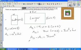word problem by forming quadratic equation from real life
