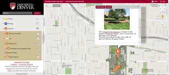 Maps Denver Interactive Map University Of Denver