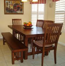 Bench And Chair Dining Sets Kitchen Table Bench 40 Free Diy Farmhouse Table Plans To Give The