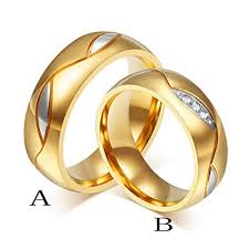 couple rings gold images Botrong couple rings women men engagement ring gold jpg