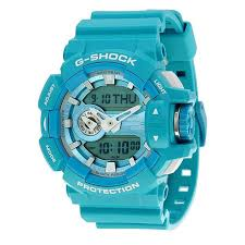 light blue g shock watch casio g shock standard analog digital watch ga 400a 2a blue
