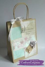 Shabby Chic Gift Bags by Tent Card Made Using Sara Signature Shabby Chic Collection