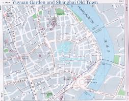 Shanghai Map Of Shanghai Old Town U0026 Yuyuan Garden