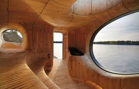 designer sauna grotto sauna canada inhabitat green design innovation