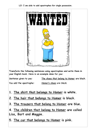 apostrophes differentiated worksheets by jennyhelmer teaching