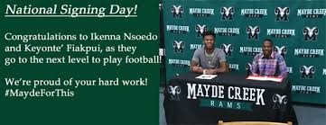 mayde creek high school yearbook mayde creek high school signing day the katy news