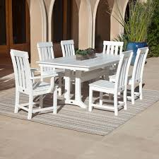 Patio Furniture 7 Piece Dining Set - teak patio furniture collections costco