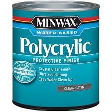 minwax polycrylic clear satin 1 qt walmart com