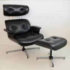 furniture elegant white eames lounge chair replica and ottoman on