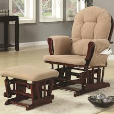 Rocking Chair Or Glider Coaster Rockers Casual Glider Rocker With Beige Upholstery