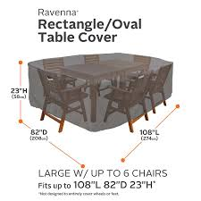 Large Patio Furniture Covers - amazon com classic accessories ravenna rectangular oval patio