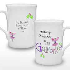 godmother mug merry christmas personalised godmother mug