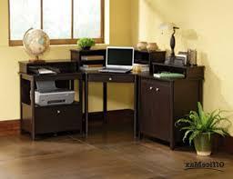 small corner computer desk contemporary varnished mahogany