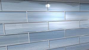 Big Blue Glass Tile Perfect For Kitchen Backsplashes And Showers - Covering tile backsplash