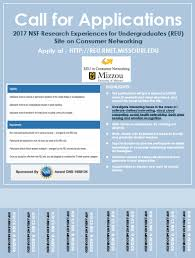 reu site undergraduate research in home networking technologies