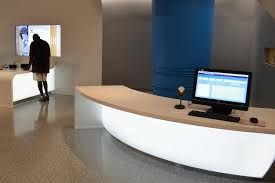 Illuminated Reception Desk Backlit Curved 3form Reception Desks