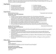 sle of functional resume mbbs resume sle medical doctor sle for physician sles toreto