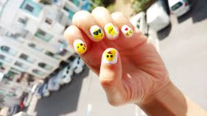 whatsapp emoji smiley nail design tutorial