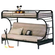 Metal Futon Bunk Bed Metal Bunk Bed Frame With Futon Myubique Info