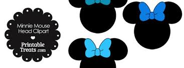 blue bows minnie mouse clipart with blue bows printable treats