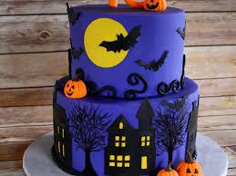 halloween theme birthday cake 6 round over 8 round handcut spooky