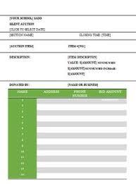 silent auction bid sheet carbon copy silent auction bid sheet