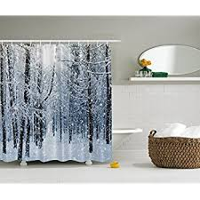 amazon com christmas shower curtain fabric decorations by