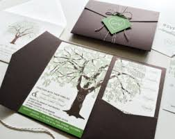 tree wedding invitations tree wedding invite etsy