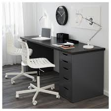 Computer Desk With File Cabinet Alex Drawer Unit Drop File Storage White Ikea