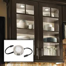how to install led puck lights kitchen cabinets mvp nickel single cabinet led puck light