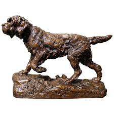 french 19th century bronze sculpture of an irish setter at 1stdibs