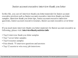 sample thank you letter for executive job interview cover letter