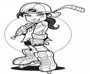 hockey coloring pages free printable