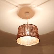 Wicker Light Fixture by Wicker Pendant Light Palau Continuous Weave Discus Wicker Pendant
