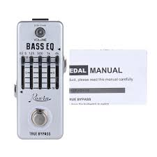 rowin true bypass 5 band eq bass guitar equalizer effect pedal