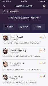 Resume App Dribbble Dribbble Job Board App Iphone 6 Resume Ui Design Full