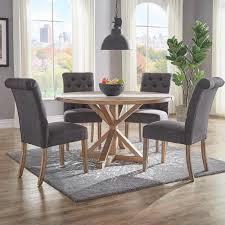 grey linen chair homesullivan huntington grey linen button tufted dining chair