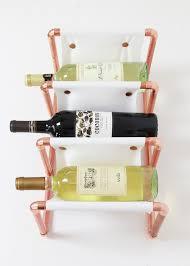 diy copper pipe u0026 leather wine rack copper wine rack wine rack