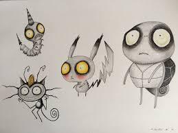 pokemon tim burton style drawing by billyboyuk on deviantart