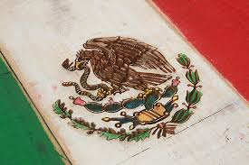 weathered wood one of a kind mexico flag wooden vintage art