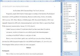 apa format for word template