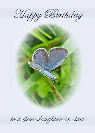 daughter in law birthday card eastern tailed blue butterfly