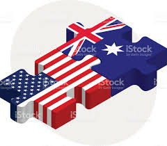 Austailia Flag Usa And Australia Flags In Puzzle Stock Vector Art 498681731 Istock