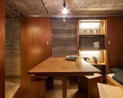 interior of kitchen tiny war bunker makes unique underground home