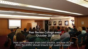 an introduction to the ahrc peer review college youtube