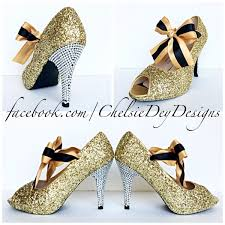 wedding shoes platform gold glitter high heels sparkly chagne wedding shoes