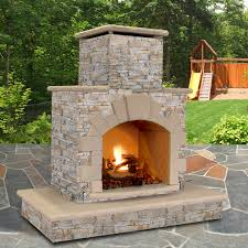 Sunjoy Amherst Fireplace by Home Decor Natural Stone Propane Gas Outdoor Fireplace Wayfair