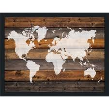 wood map gallery for less overstock